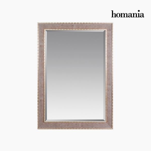 Lustro Żywica syntetyczna Szkło fazowane Drewno Srebro (76 x 3 x 106 cm) by Homania