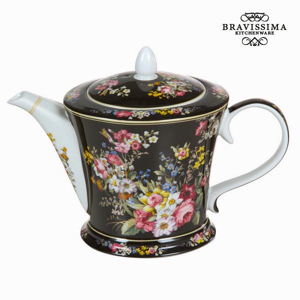 Černá porcelánová tajemná konvice bloom - Kitchen's Deco Kolekce by Bravissima Kitchen