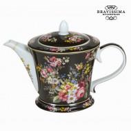 Czajnik porcelana bloom black - Kitchen's Deco Kolekcja by Bravissima Kitchen