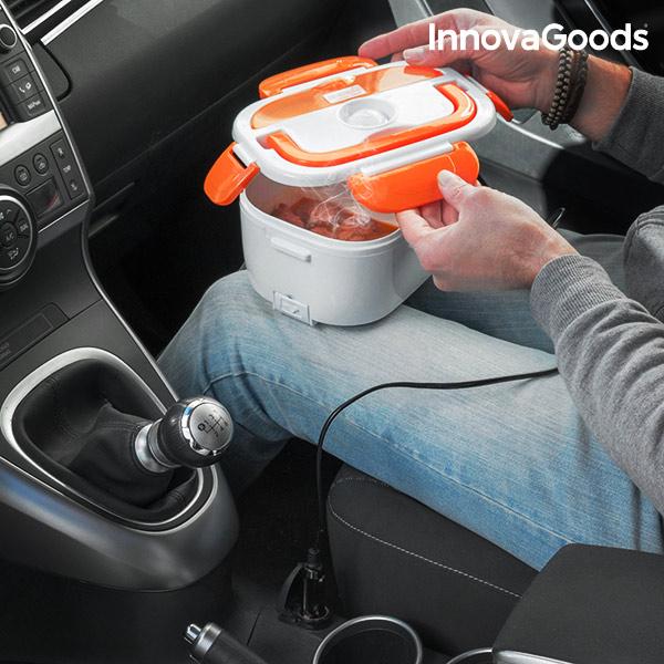 Elektrická Krabička na Jídlo do Auta InnovaGoods 40W 12 V Bílo-oranžová