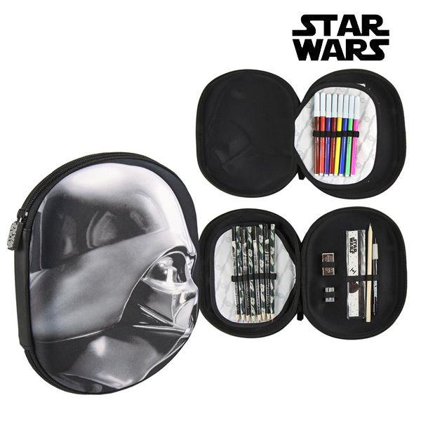 Piórnik potrójny Star Wars 58423 Czarny