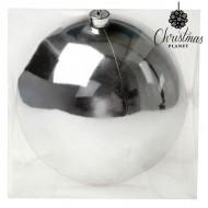 Vánoční baňka Christmas Planet 20 cm - stříbrná