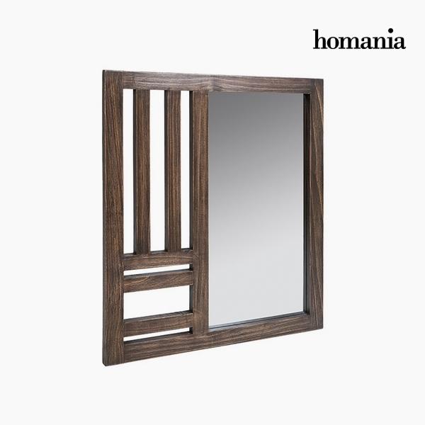 Lustro Drewno mindi (70 x 3 x 80 cm) by Homania