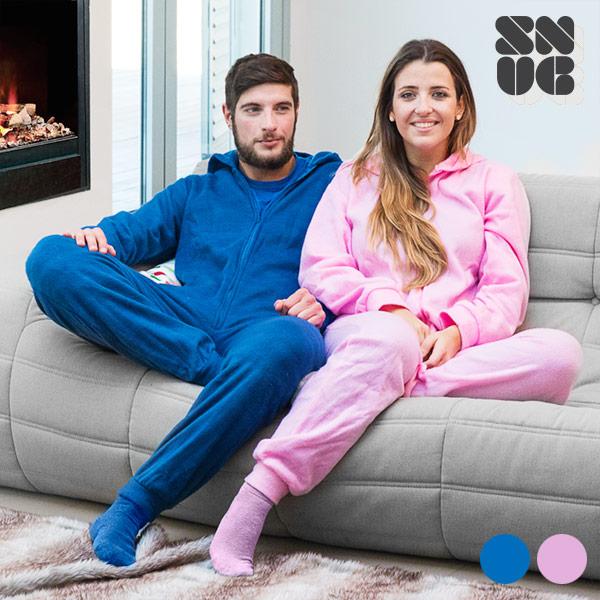Snug Snug deka s rukávy | Pyžamo - Růžový, L