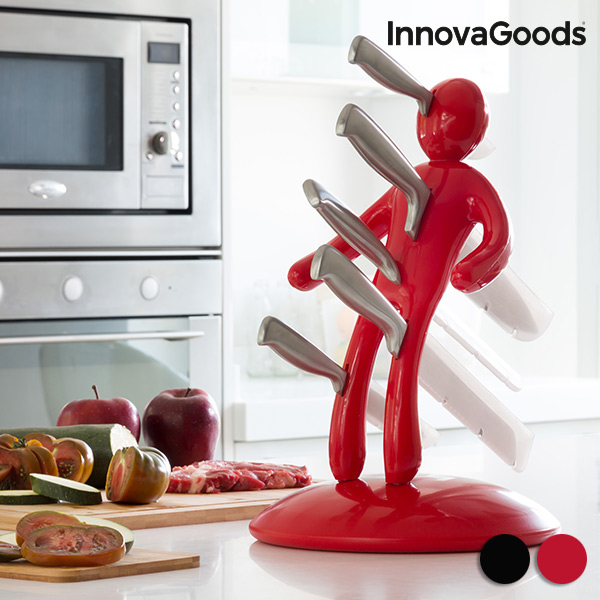Sada Nožů se Stojanem Vudú InnovaGoods (6 částí) - Červený