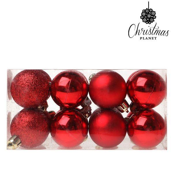 Vánoční koule Christmas Planet 5313 4 cm (16 uds) Plastické Červený