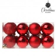 Vianočné gule Christmas Planet 5313 4 cm (16 uds) Plastické Červená