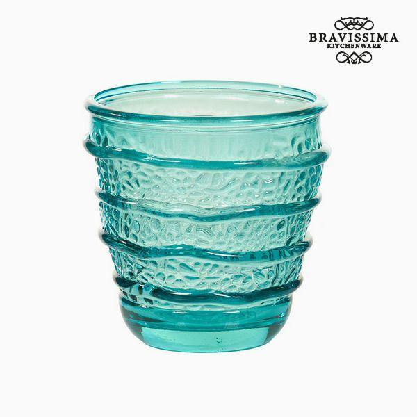 Váza z recyklovaného skla Tyrkysová (9 x 9 x 9 cm) by Bravissima Kitchen