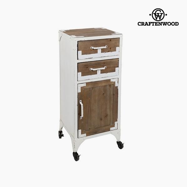 Stůl Jedlové dřevo Železo Bílý (3 zásuvky) (45 x 42 x 96 cm) by Craftenwood