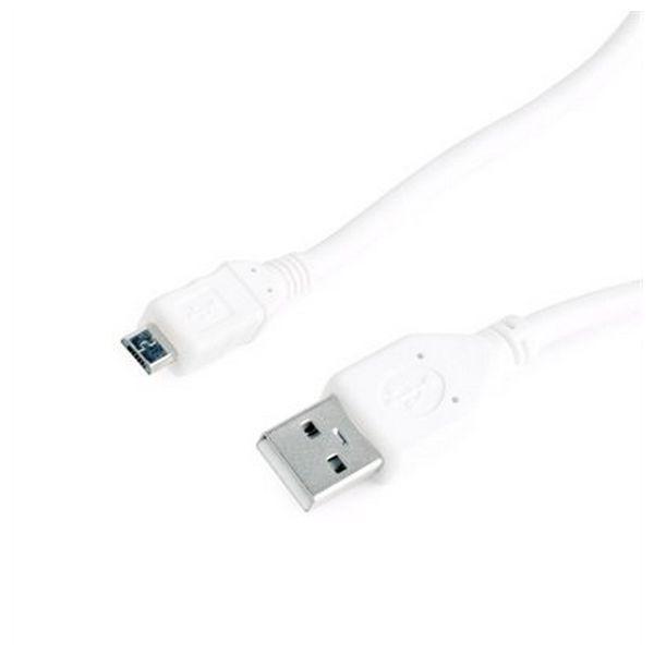 Kabel USB 2.0 A na Micro USB B iggual IGG314449 0,5 m Male to Male Connector Bílý