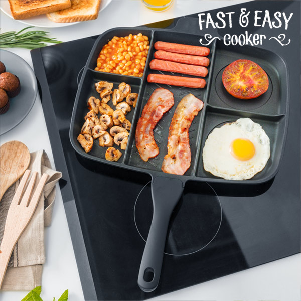Pánev s Nepřilnavým Povrchem 5 v 1 Fast & Easy Cooker