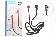 Nabíjecí a synchronizační Lightning kabel s konektorem v úhlu 90°, (100cm) - Mix barev