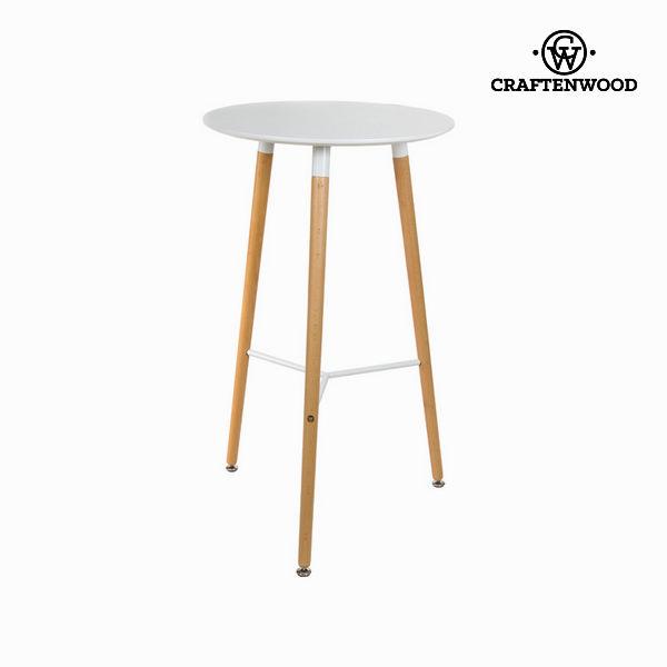 Stolik Mdf Drewno bukowe Biały (60 x 60 x 102 cm) by Craftenwood