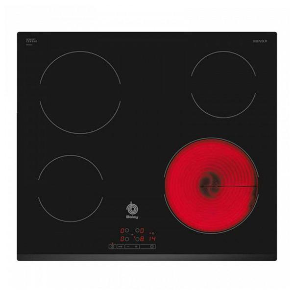 Sklokeramická deska Balay 3EB720LR. 60 cm Černý (4 místo pro vaření)