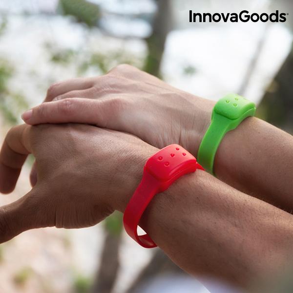 Repelentní Náramek s Vůní Citronely InnovaGoods - Zelený