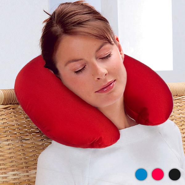Poduszka na Szyję z Malutkimi Kulkami Antystresowymi - Czerwony