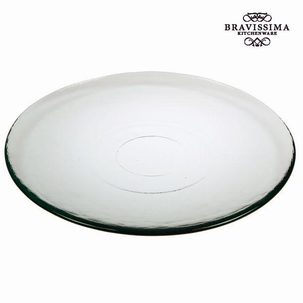 Talerz Płaski ze Szkła Recyklingowanego Gładki Przezroczysty - Pure Crystal Kitchen Kolekcja by Brav