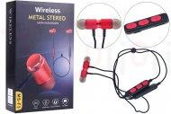 Bezdrátová bluetooth sluchátka s mikrofonem MS-F3 (BT5.0) - Červené