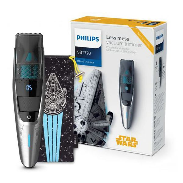 Elektryczna Maszynka do Golenia Star Wars Philips SBT720/15 Czarny Srebrzysty