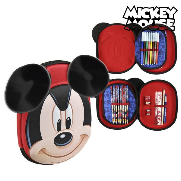 Piórnik potrójny Mickey Mouse 58393 Czerwony