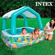 Nafukovací Bazének se Slunečníkem Dům Intex