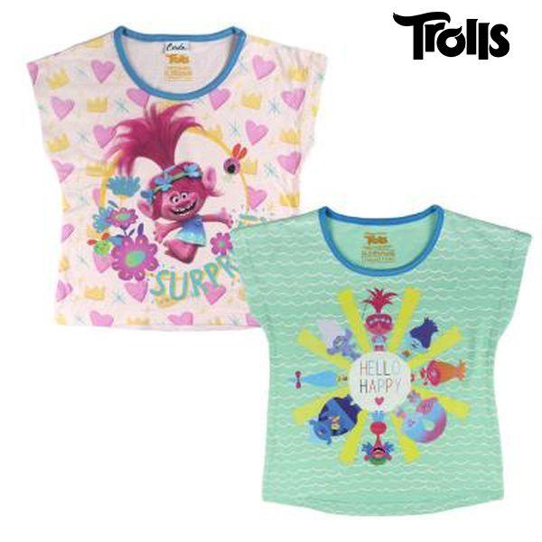 Koszulka z krótkim rękawem dla dzieci Trolls 8934 Kolor zielony (rozmiar 5 lat)