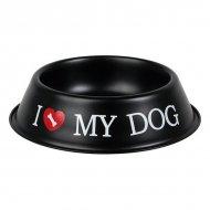 Miska na žrádlo pro psy - I ♡ My Dog - Černá