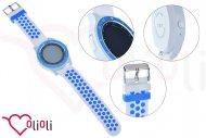 Chytré hodinky s bluetooth SMART WATCH - Kulaté, modro bílé
