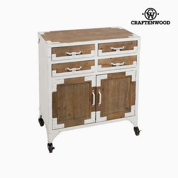 konzole Jedlové dřevo Bílý (4 zásuvky) (76 x 42 x 84 cm) by Craftenwood