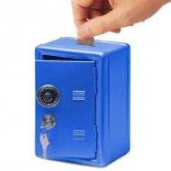Kovová pokladnička - Trezor - modrá