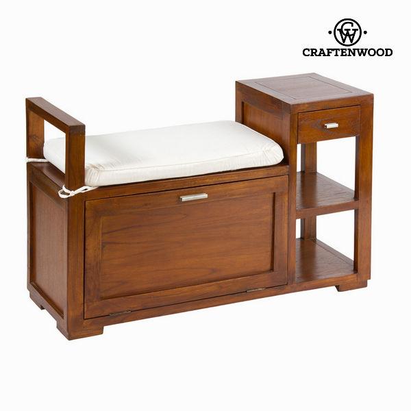 Dřevěná lavice se zásuvkou - Chocolate Kolekce by Craftenwood
