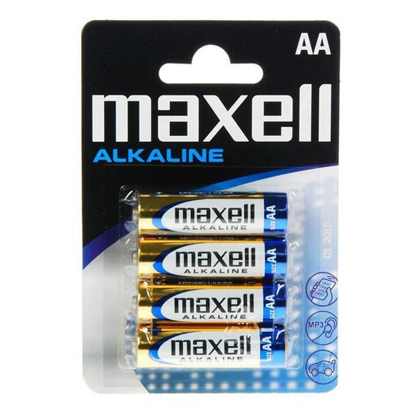 Alkalické Baterie Maxell 1.5V AA PK4 AA 1,5 V