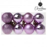 Vianočné gule Christmas Planet 6721 4 cm (16 uds) Purpurová