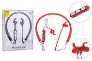 Bezdrátová bluetooth sluchátka s mikrofonem MS-T10 - Červené