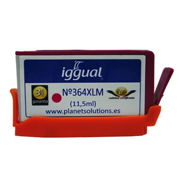 Recyklovaná Inkoustová Kazeta iggual HP PSICB324EE Purpurová