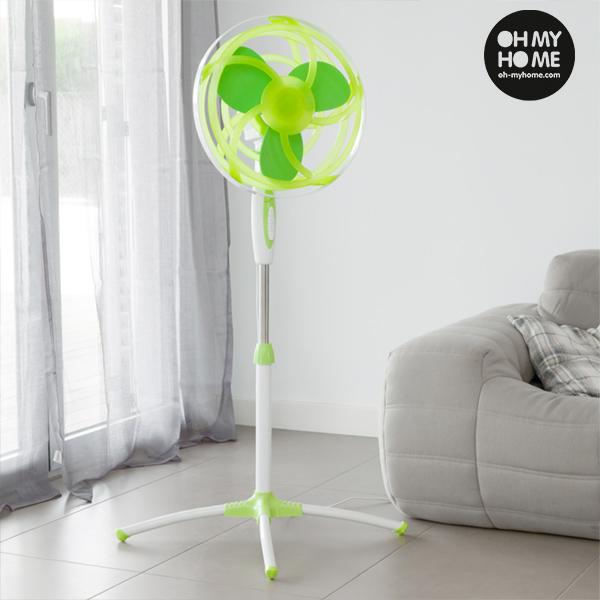 Zelený Stojanový Ventilátor s Vrtulí z EVA Gumy Oh My Home 45 W
