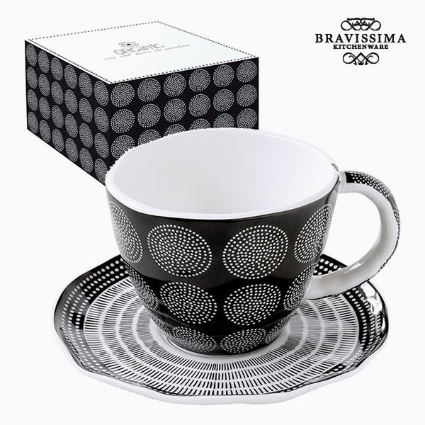 Kubek do naparów Porcelana Czarna by Bravissima Kitchen
