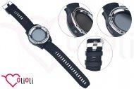 Chytré hodinky s bluetooth SMART WATCH - Kulaté se silikonovým řemínkem