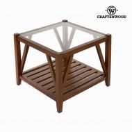 Kávový stolek se sklem - Serious Line Kolekce by Craftenwood
