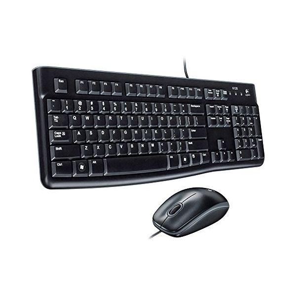Keyboard and Optical Mouse Logitech 920-002550 1000 dpi USB Černý