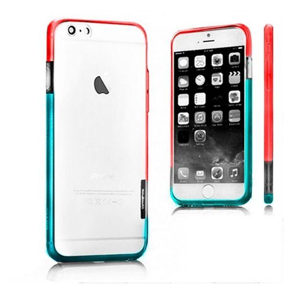 Dwukolorowy Zderzak iPhone 6 X-ONE 109956 Biały Niebieski