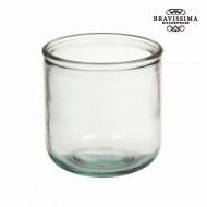Wazon ze Szkła Recyklingowanego Gładki Niski - Pure Crystal Kitchen Kolekcja by Bravissima Kitchen