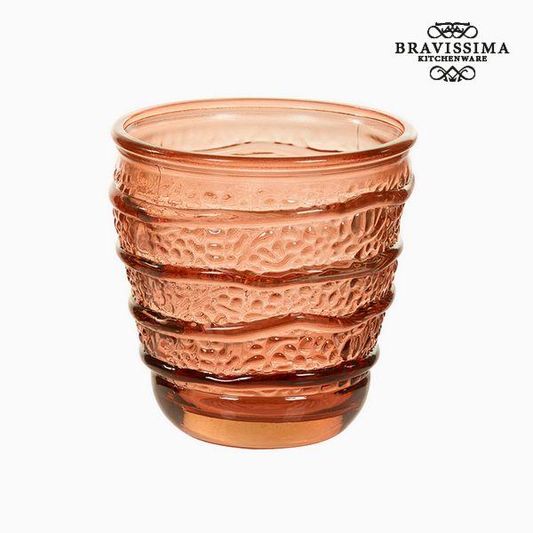 Váza z recyklovaného skla Korálová (9 x 9 x 9 cm) by Bravissima Kitchen