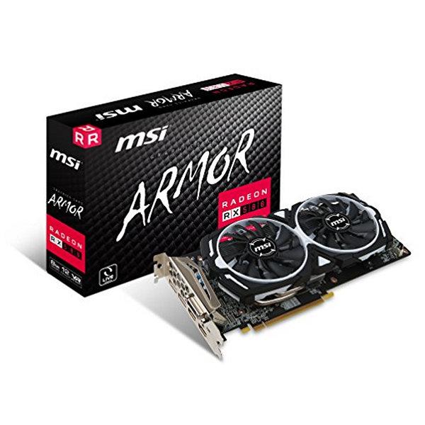 Grafická karta MSI VGA AMD RX 580 ARMOR OC 8 GB DDR5