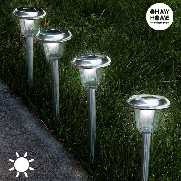 Kulatá Solární Lampa Pochodeň Oh My Home (4 kusy)