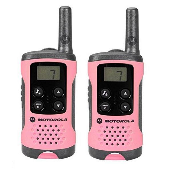 Přenosná vysílačka Motorola TLKR T41 4 km LCD 16 h AAA Růžový