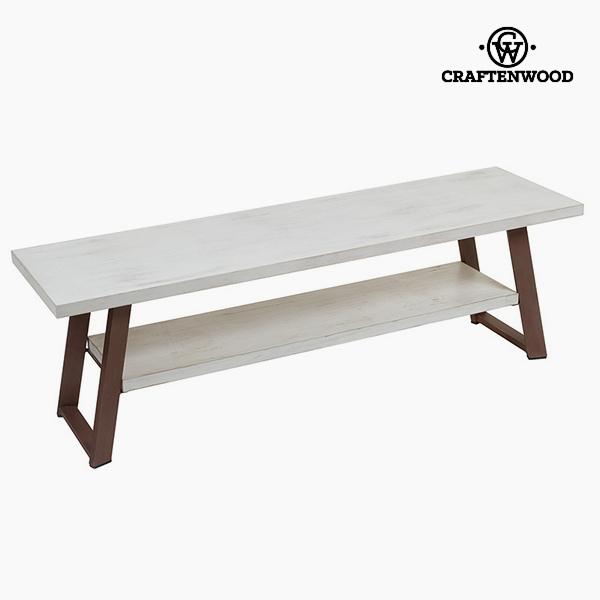TV stolek Dřevo Bílý Kaštanová (140 x 40 x 45 cm) by Craftenwood