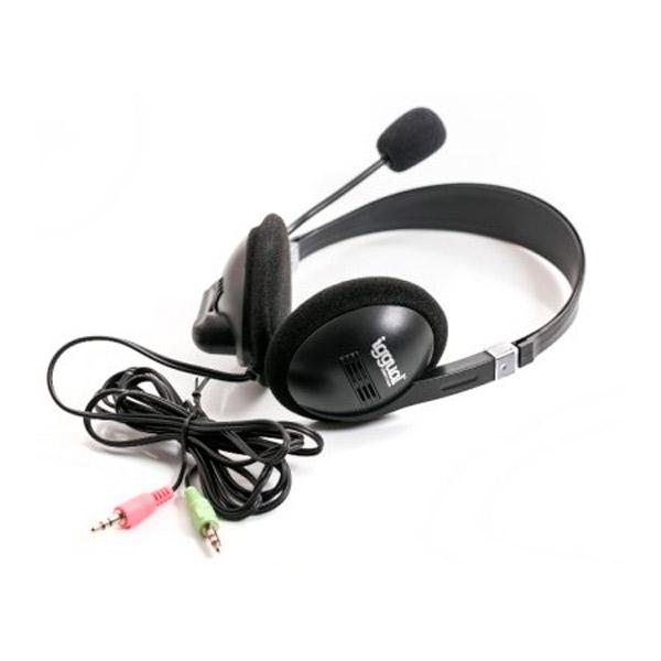 Słuchawki z Mikrofonem iggual PSI09001 Czarny