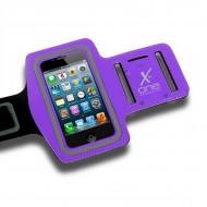 Sportovní neoprenové pouzdro na telefon X-ONE 106122 Velikost M Fialový