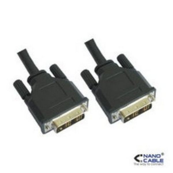 DVI Cable NANOCABLE 10.15.0603 3 m Male to Male Connector